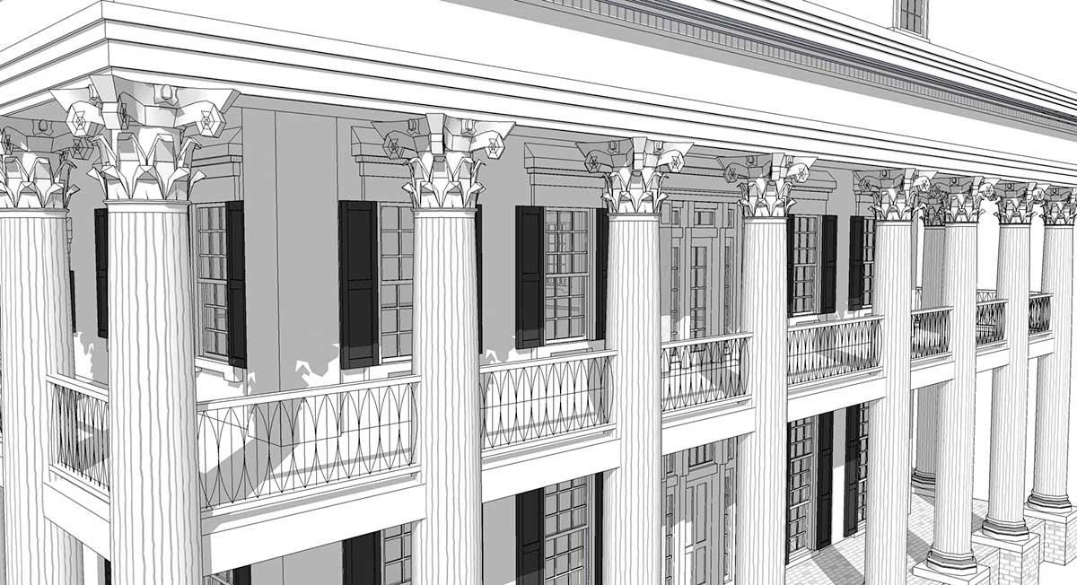Greek Revival Floor Plans: Classic Greek Revival With Video Tour - 44055TD