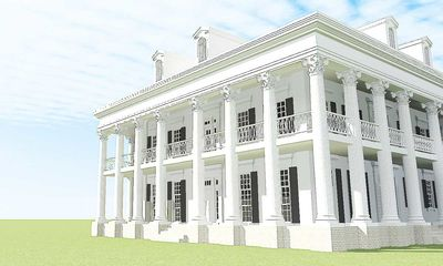 Classic greek revival with video tour 44055td for Greek revival home plans