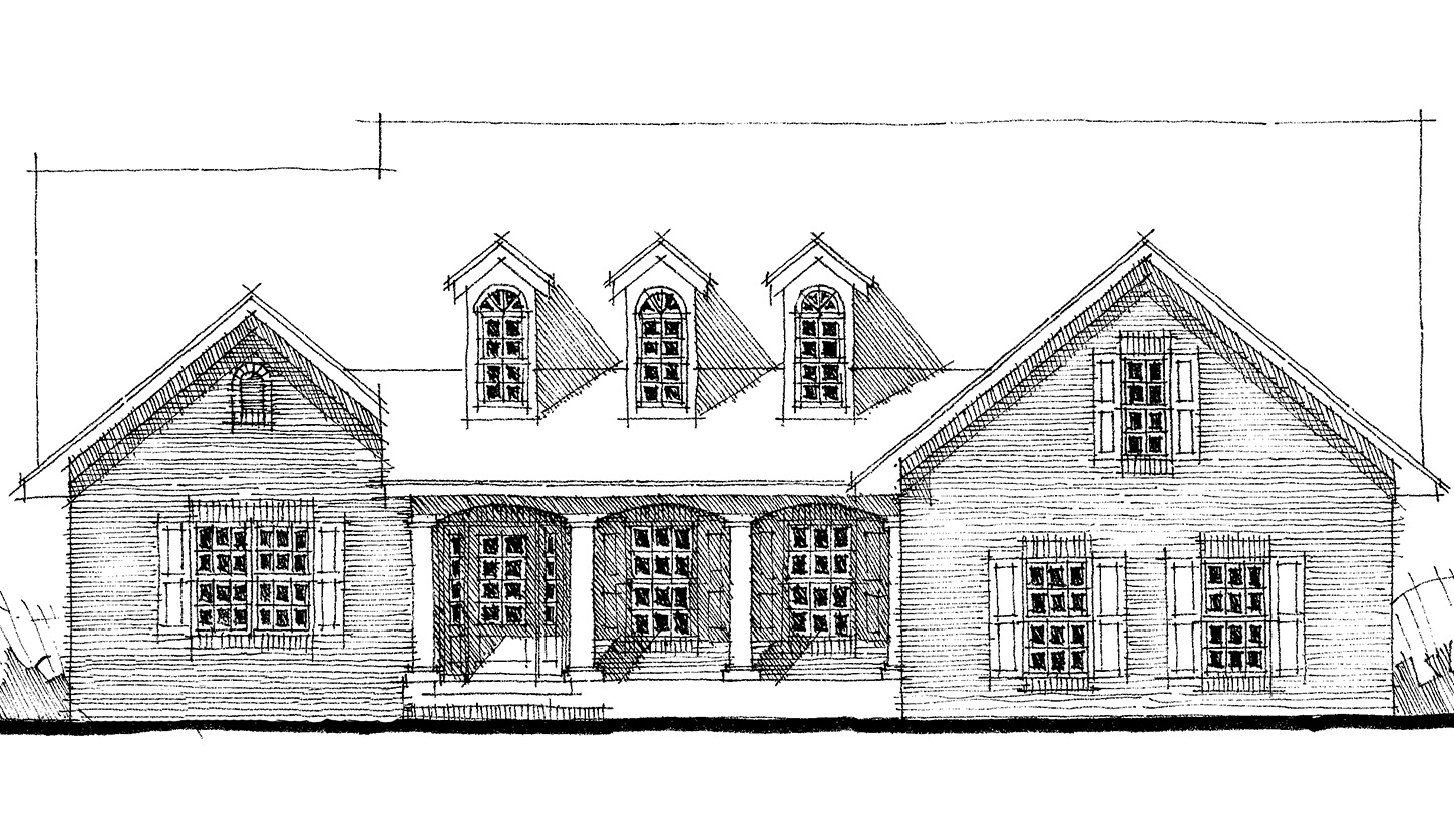 Traditional brick home plan 44062td architectural for Traditional brick homes
