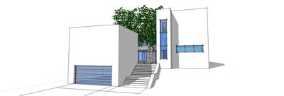 Modern Beach Home with Tree Courtyard - 44064TD thumb - 02