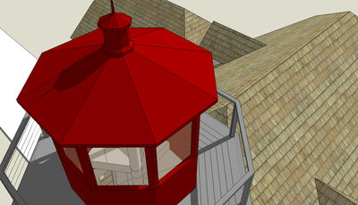 Lighthouse with Cape Attached - 44068TD thumb - 09