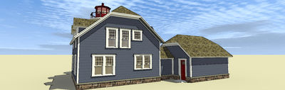 Lighthouse with Cape Attached - 44068TD thumb - 05