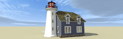 Lighthouse with Cape Attached - 44068TD thumb - 07