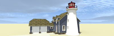 Lighthouse with Cape Attached - 44068TD thumb - 08