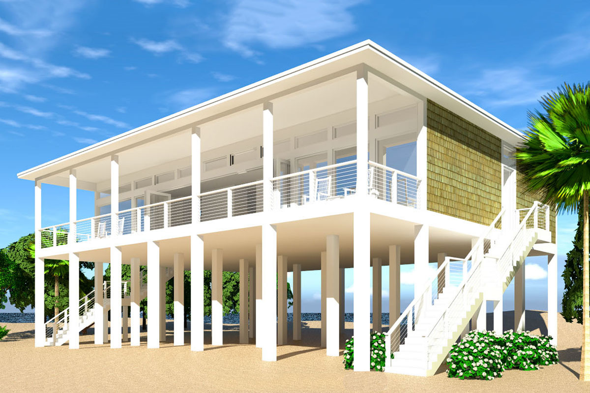 44073TD 1 1542661599 - 30+ Small Modern Beach House Designs  Images