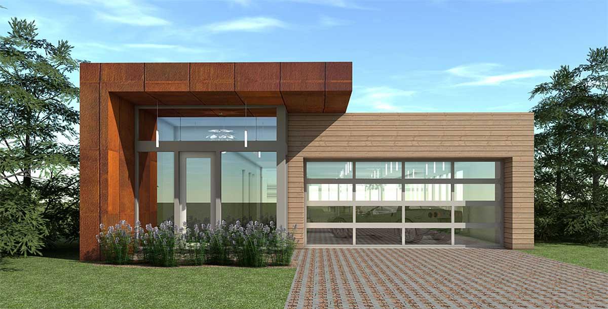 Modern Design With Display Garage 44076td