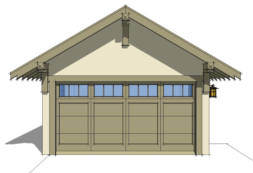 Craftsman style detached garage plan 44080td cad for Craftsman garage plans