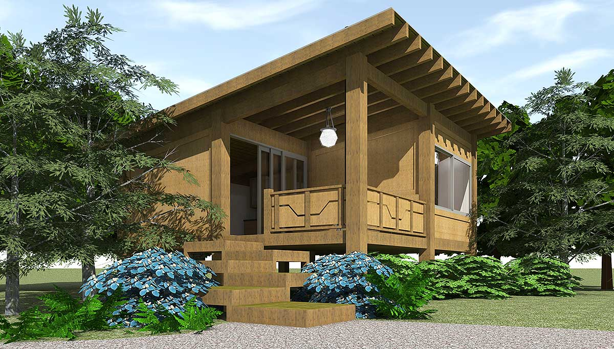 Funky Vacation Cabin 44098td Architectural Designs