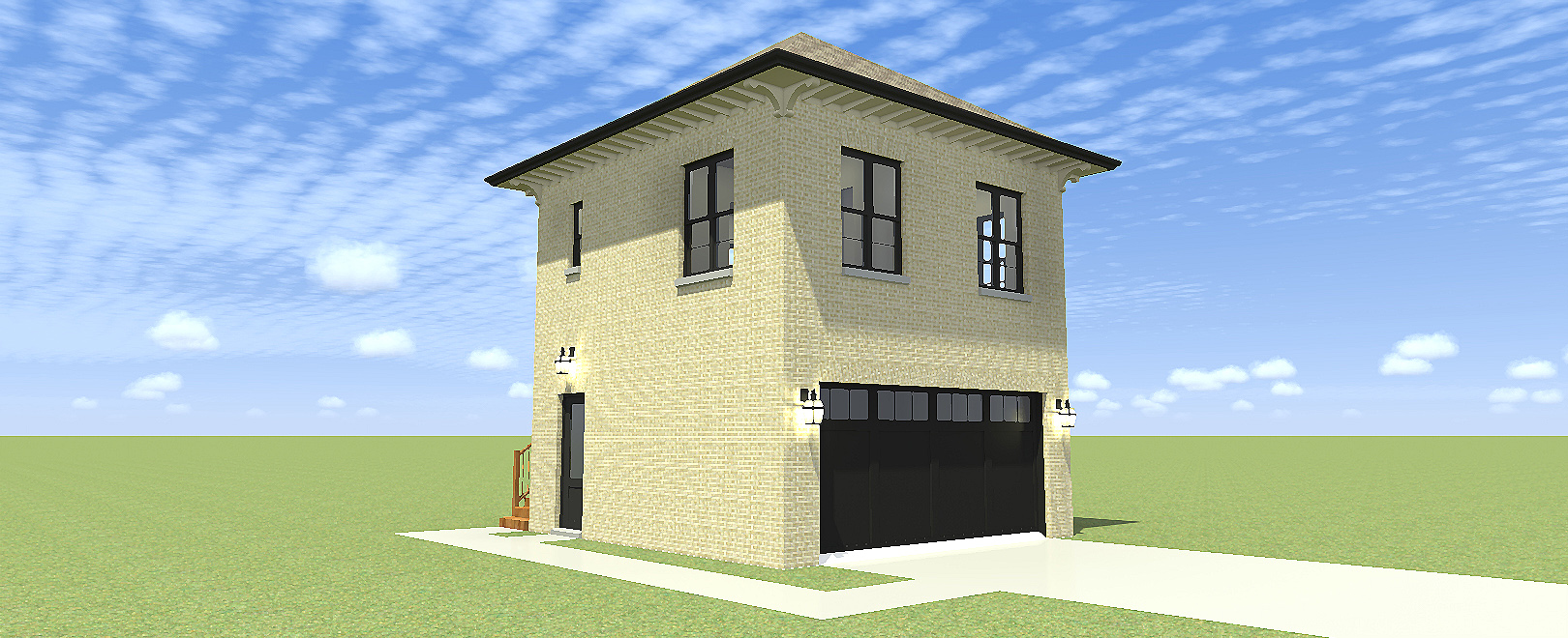 Garage plan with upstairs apartment 44111td for 3 car garage with upstairs apartment
