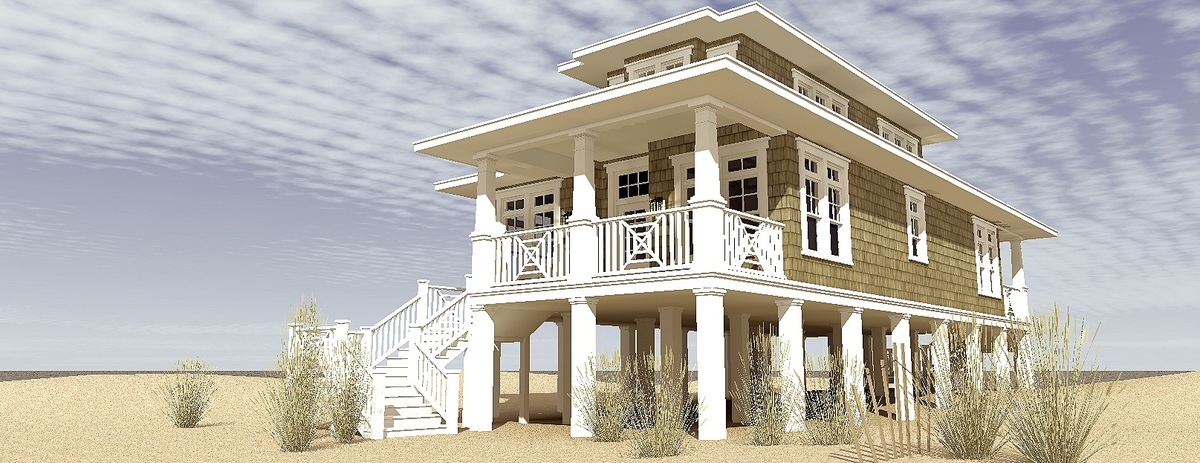 Low Country Beach House Plan - 44116TD | Architectural Designs ...