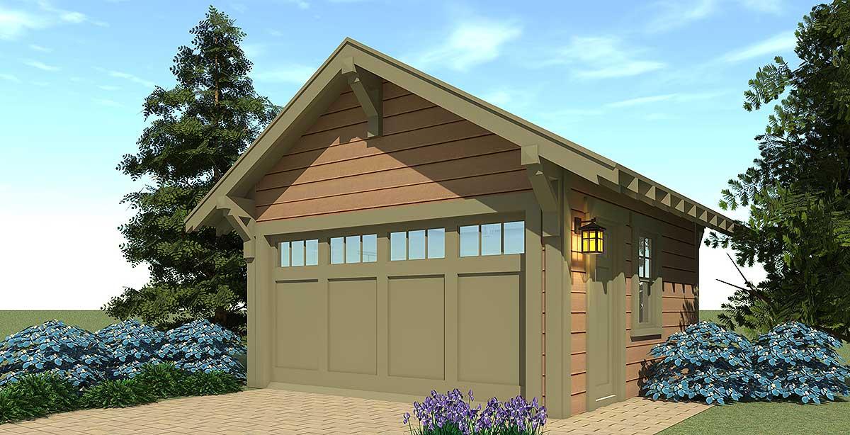 Craftsman Style 2 Car Garage Plan 44126td Architectural Designs House Plans
