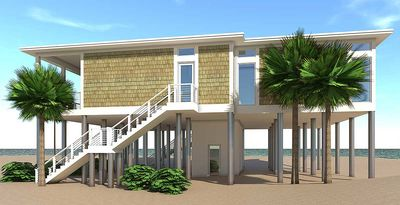Modern beach duplex plan 44127td architectural designs for Coastal duplex house plans