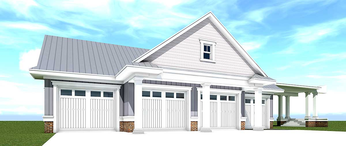 4 Car Farmhouse Garage 44131td Architectural Designs
