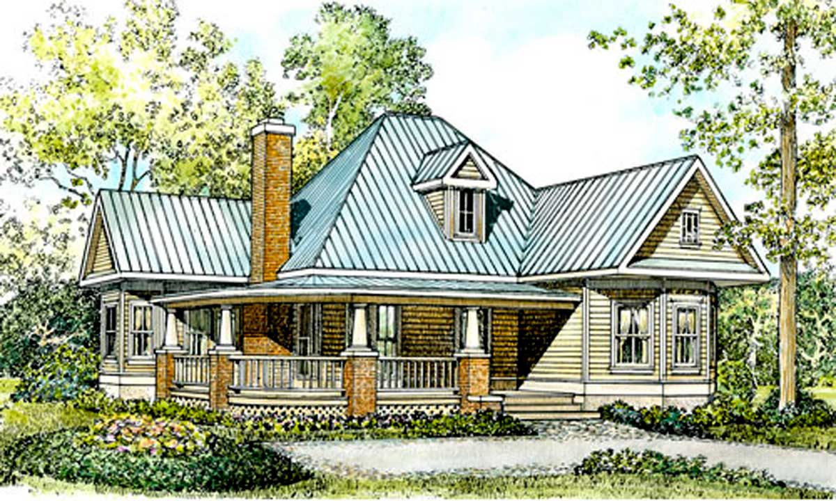 Fully appointed hill country home plan 46001hc 1st for Hill country house plans with wrap around porch