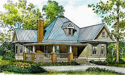 Fully-Appointed Hill Country Home Plan - 46001HC thumb - 01