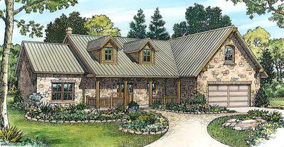 Stone Ranch Home Plan - 46025HC thumb - 01