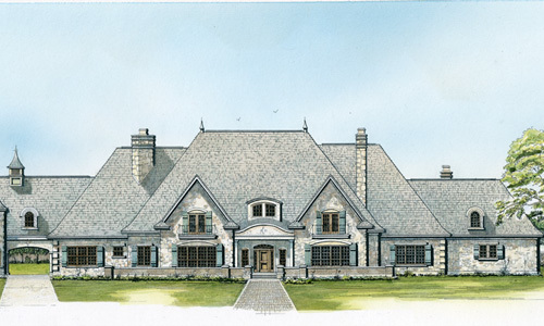Magnificent french country estate home 46027hc for Large estate house plans