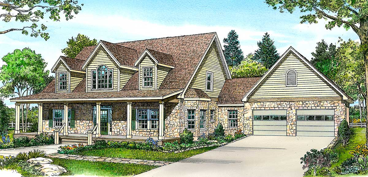 Hill country home with lots of storage 46035hc for House plans with lots of storage