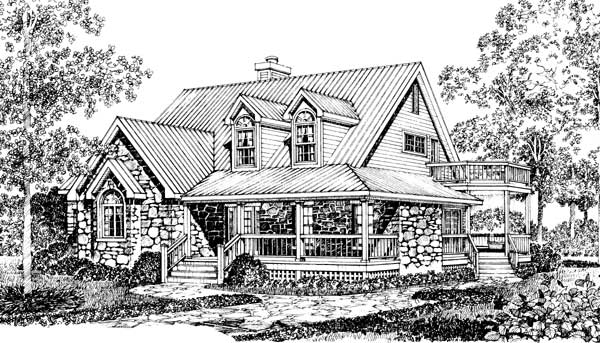 Stone cottage home plans house design plans for Stone cottage home plans