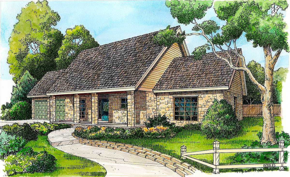 Stone hill country cottage 46051hc architectural for Brodie house plan