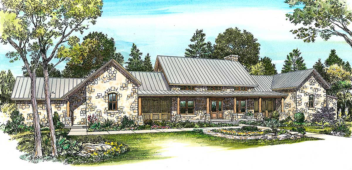 Hill Country Home With Massive Porch 46052hc 1st Floor