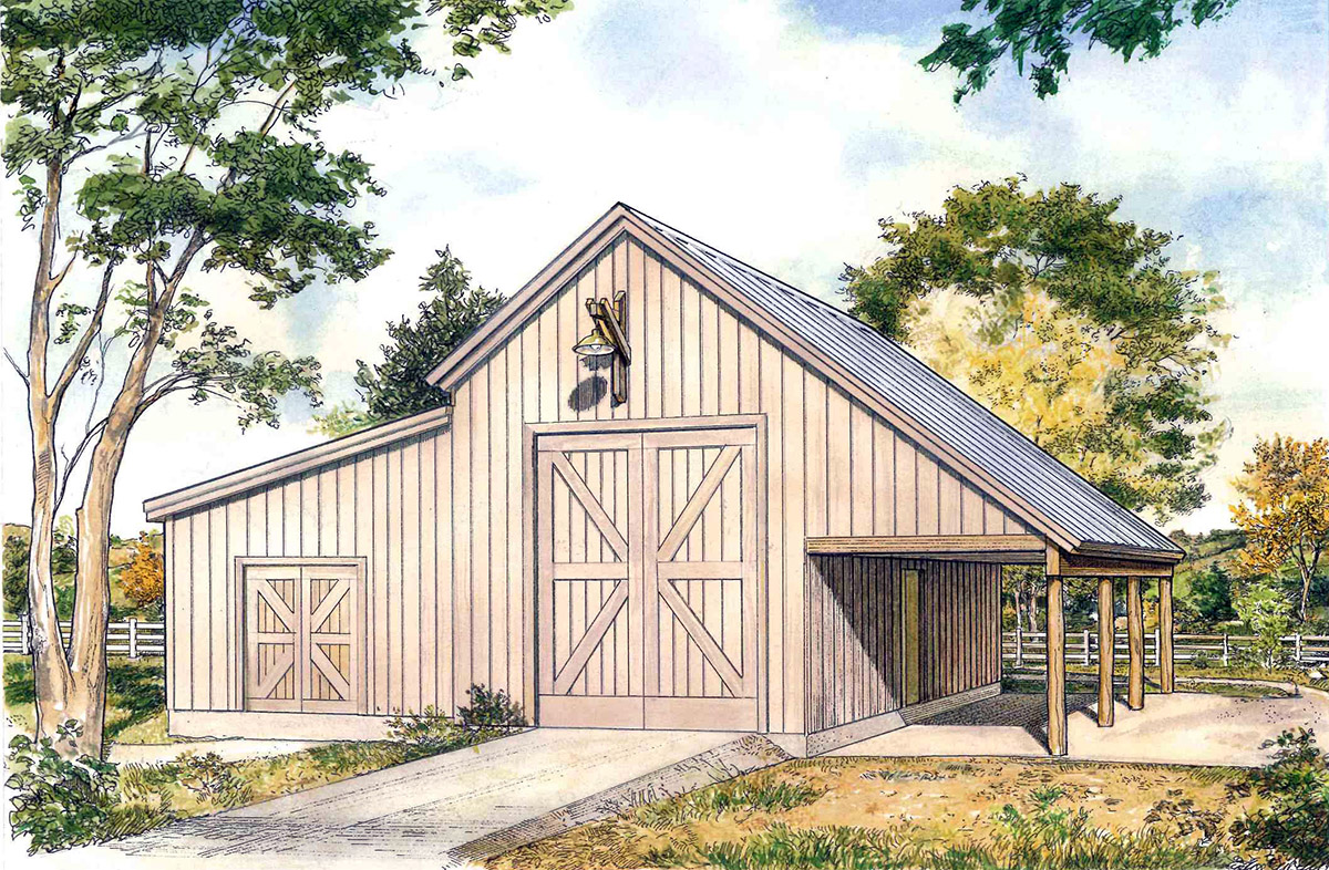 Rustic drive through garage 46060hc architectural for House plans with drive through garage
