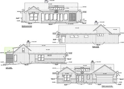 Rustic 3 Bed Ranch With Shed Dormer 46071hc