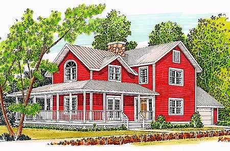T shaped farmhouse design 46158se architectural for T shaped farmhouse floor plans