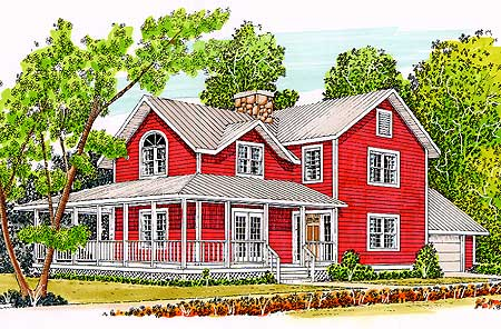 T shaped farmhouse design 46158se architectural for T shaped home plans