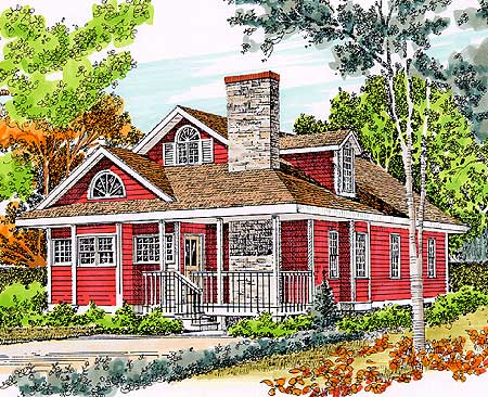 Storybook cottage 46163se 1st floor master suite for Storybook craftsman house plans