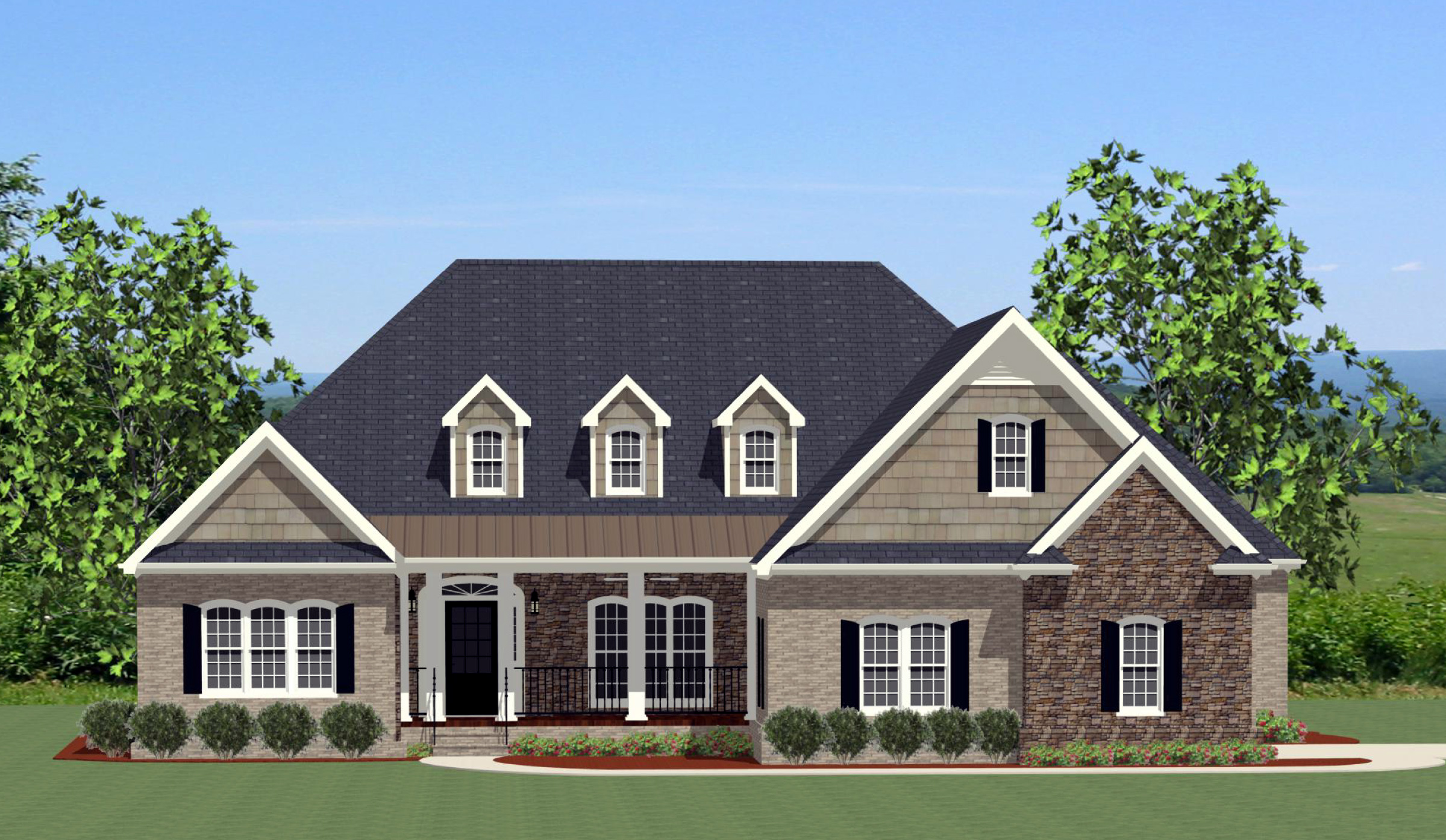 Split Bedroom House Plan With Bonus Room 46221la