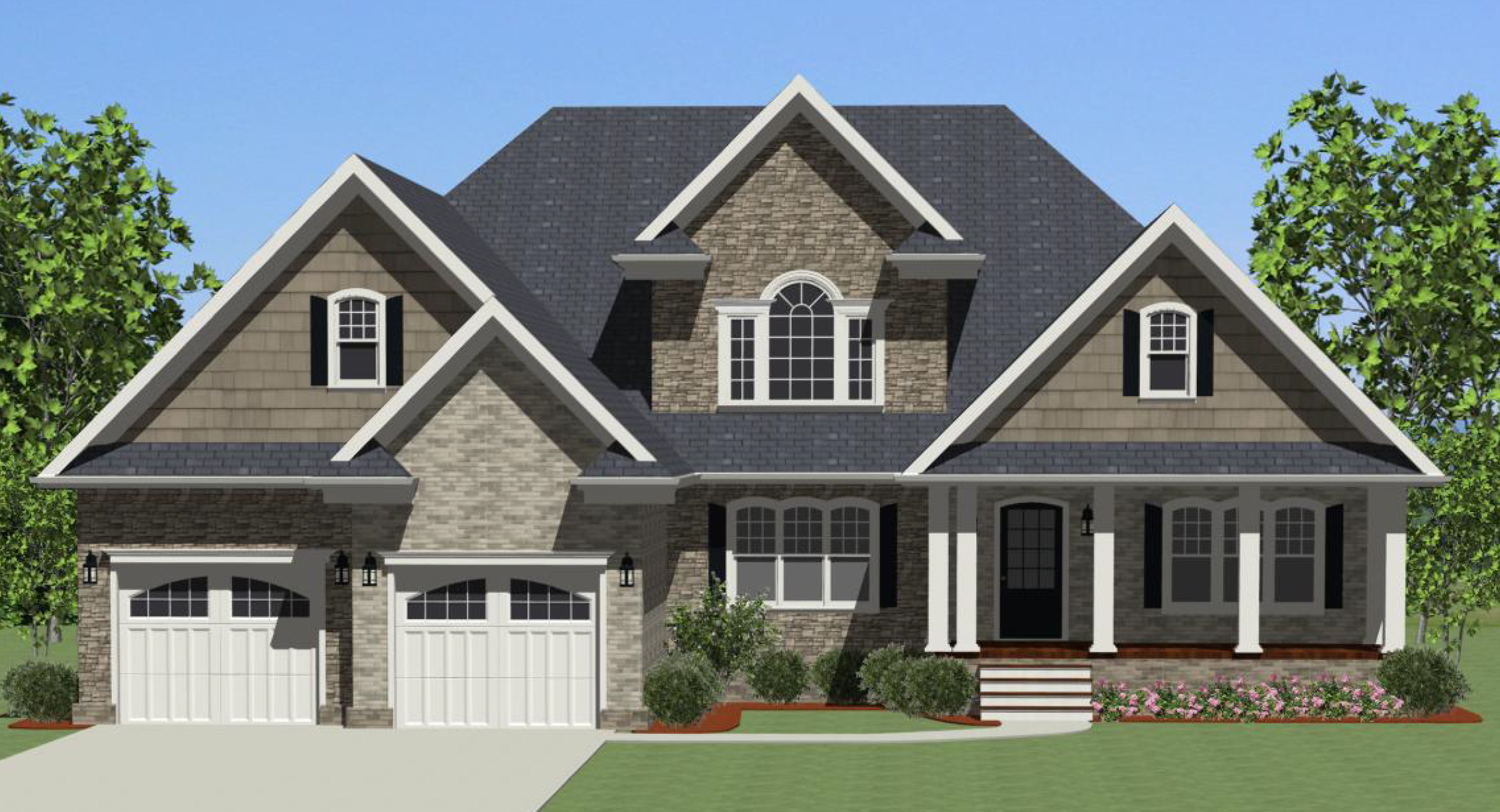 Live on one level 46229la architectural designs for South louisiana house plans