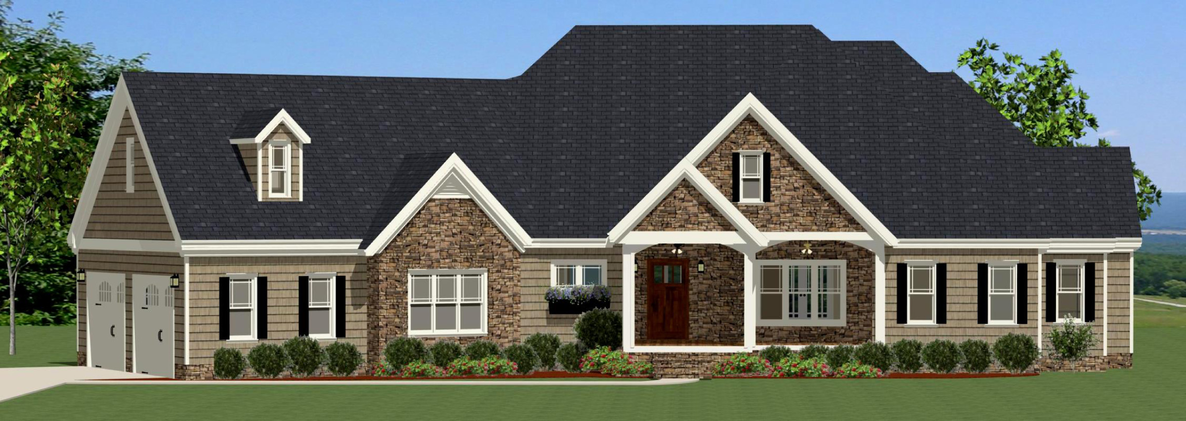 Traditional house plan with split bedrooms 46249la - Traditional home plans and designs ...