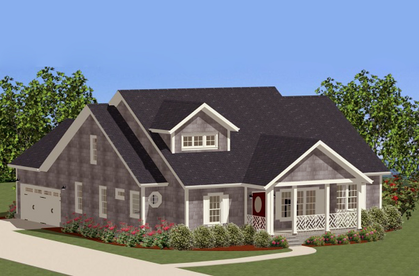 comfortable one level home plan 46253la 1st floor