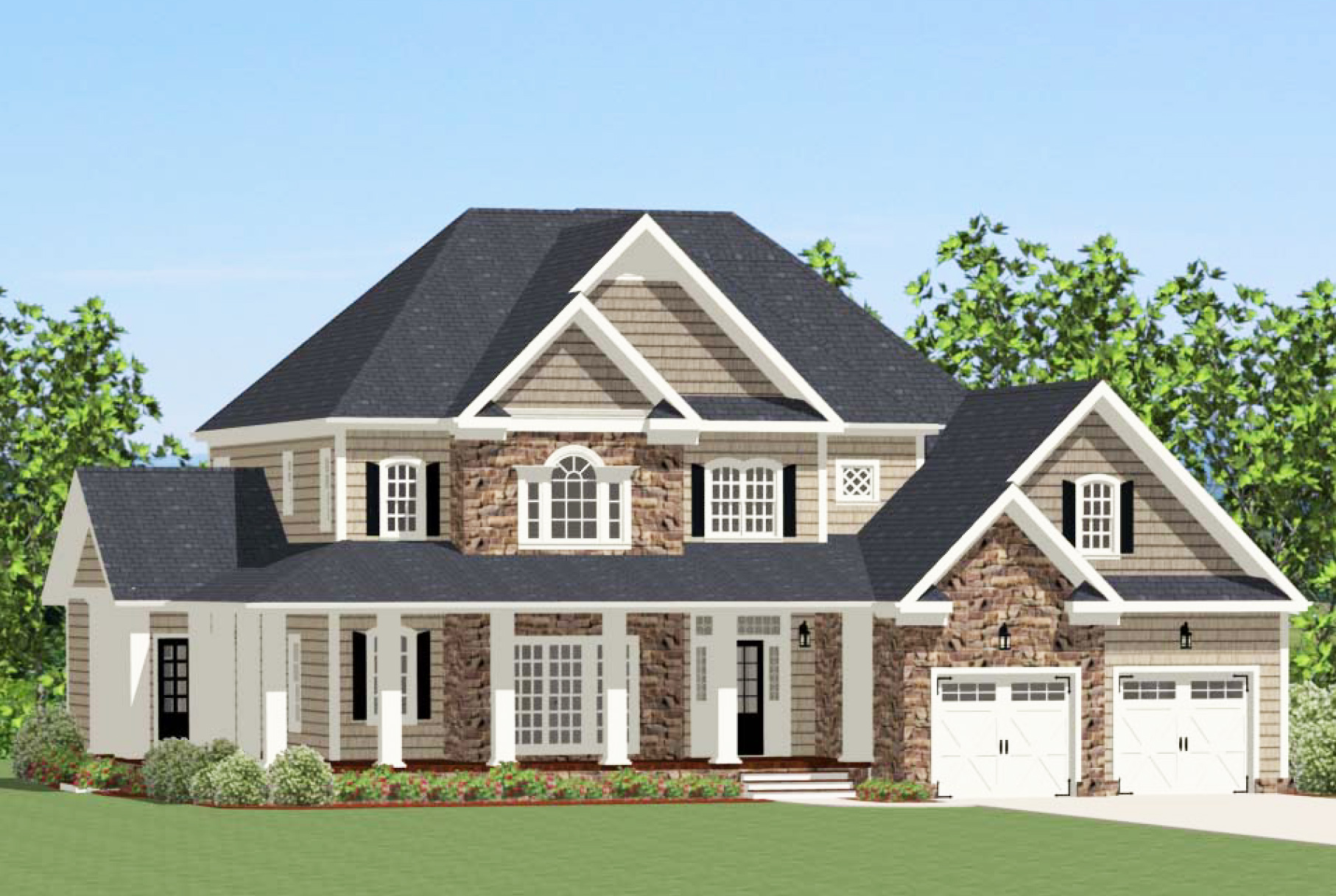 Grand traditional house plan 46263la architectural for Traditional farmhouse plans