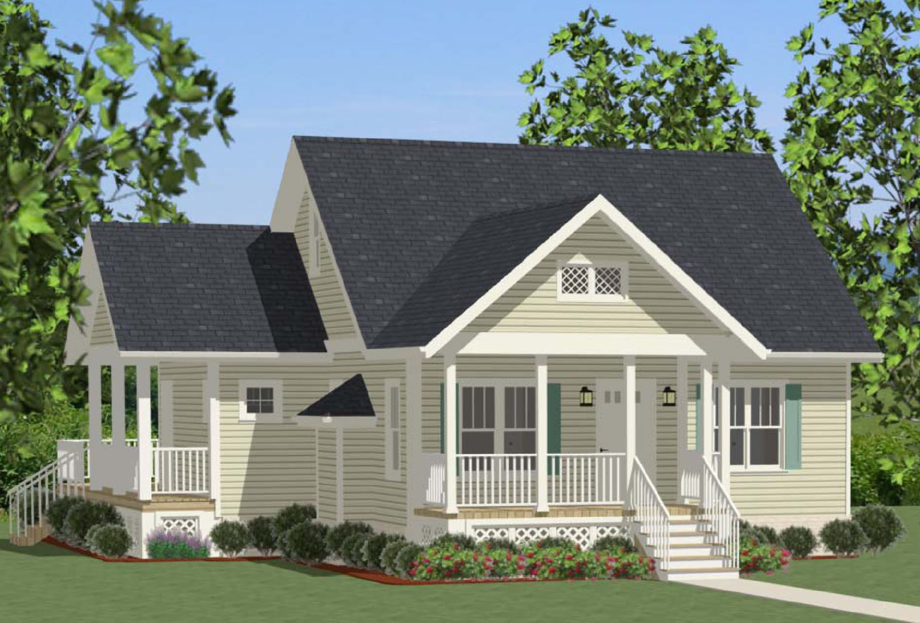 Compact cottage with country kitchen 46267la 1st floor for Compact cottages