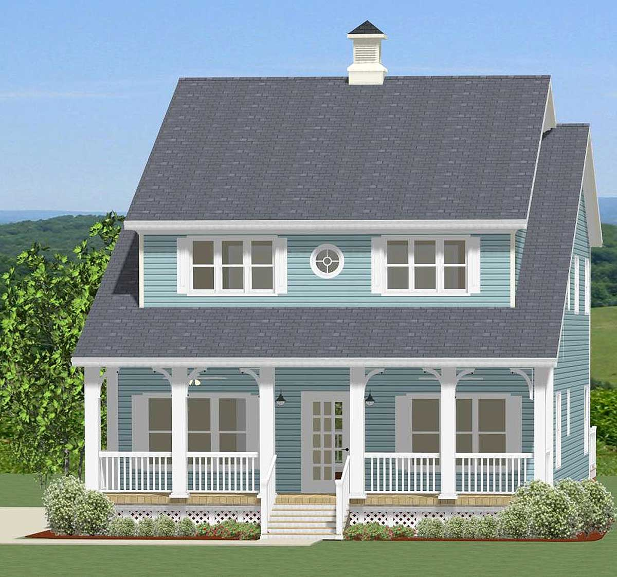 Five Bedroom Country House Plan - 46275LA