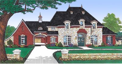 Private Parking Courtyard House Plan - 48002FM thumb - 01