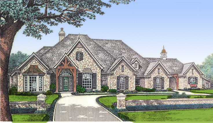 house plans - Luxury French Country House Plans