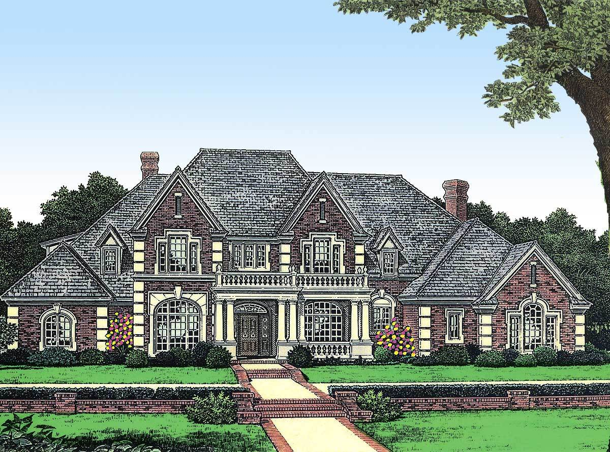 Stately Manor In Two Versions 48010fm Architectural