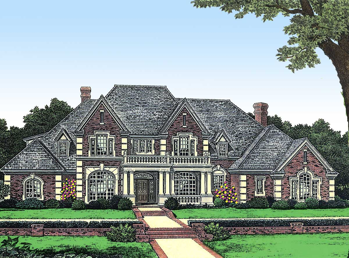 Stately manor in two versions 48010fm architectural for Stately house plans
