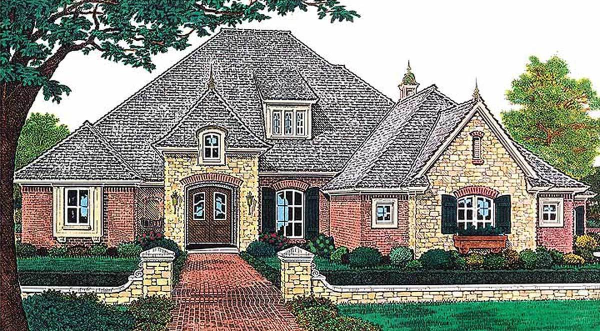 French country elegance 48023fm architectural designs for Large french country house plans