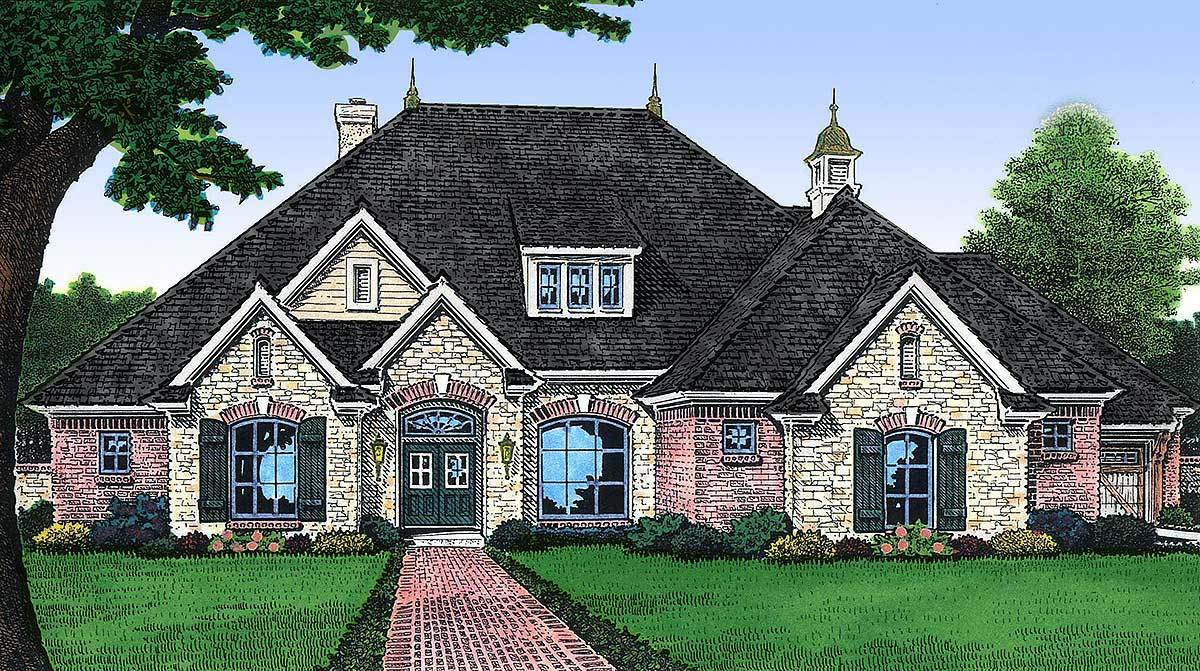 Charming french country home plan 48028fm for Large french country house plans