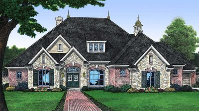Charming French Country Home Plan - 48028FM thumb - 01
