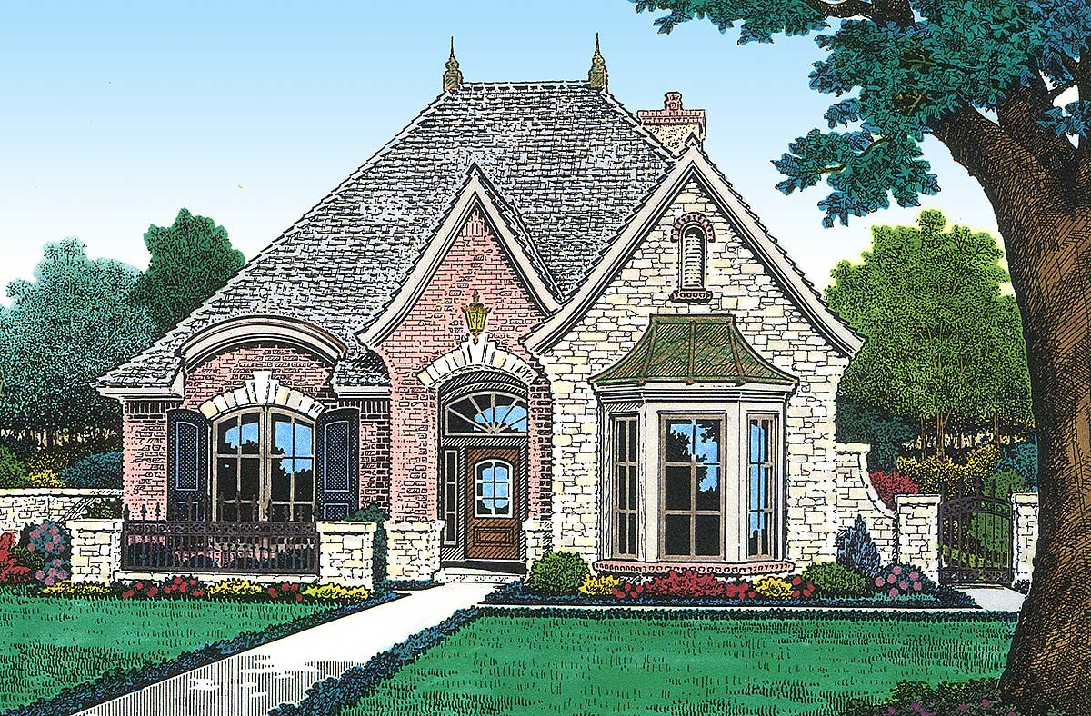 Petite french cottage 48033fm architectural designs for French cottage plans