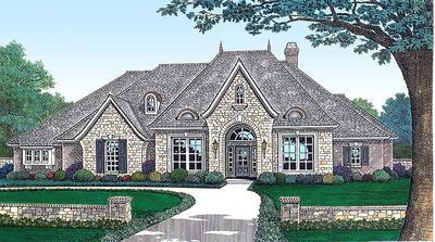 Angled Nook Home Plan with Options - 48034FM thumb - 01