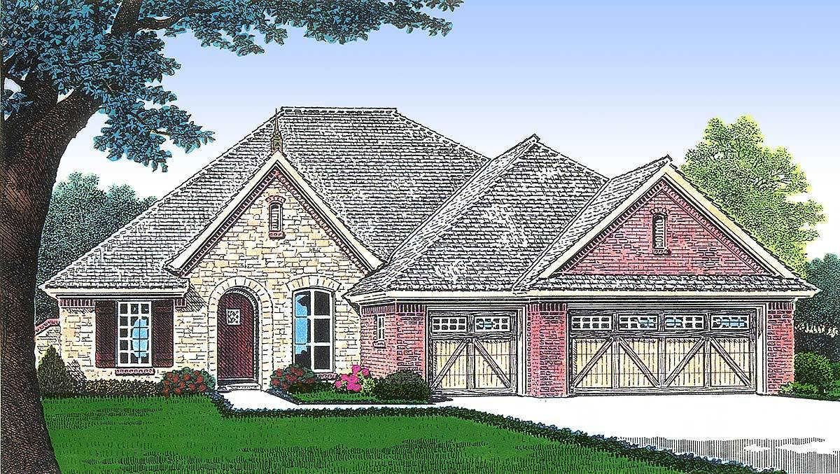 Classic french country house plan 48035fm for Large french country house plans