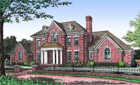 Brick georgian house plans House design plans