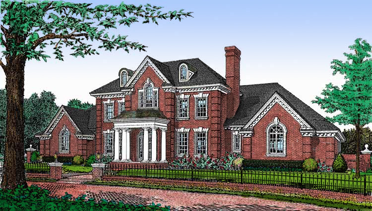 Stately brick home plan 48075fm architectural designs for Stately house plans