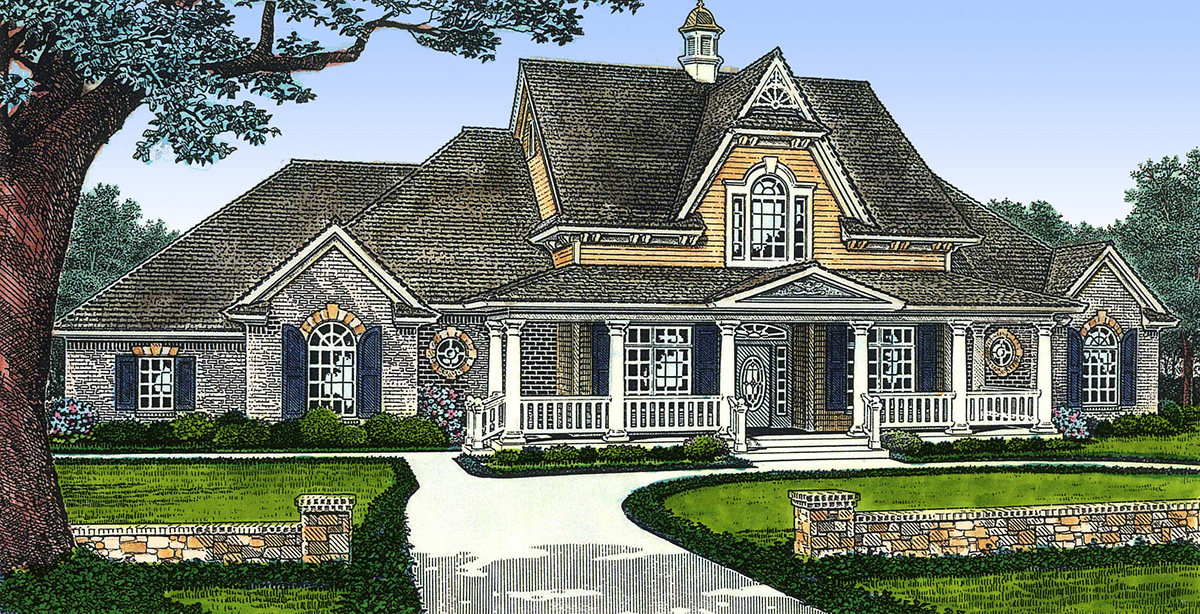Classic Country Farmhouse 48096fm Architectural: architectural designs farmhouse